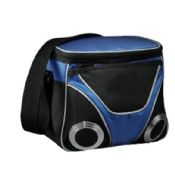 Insulated lunch cooler bag with speaker images