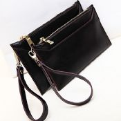 lady genuine leather envelope clutch bag images