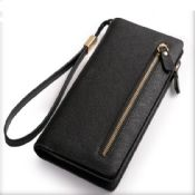 Leather Zipper compartment Clutch images