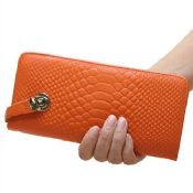 zipper genuine crocodile leather wallet images