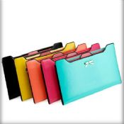 Zipper genuine leather girls clutch wallet images
