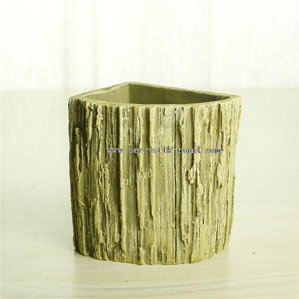 Cement Drzewo Giczoł Wewnątrz Doniczki