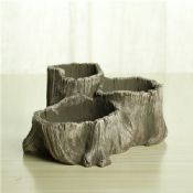 cement tree stump fancy small flower pots images